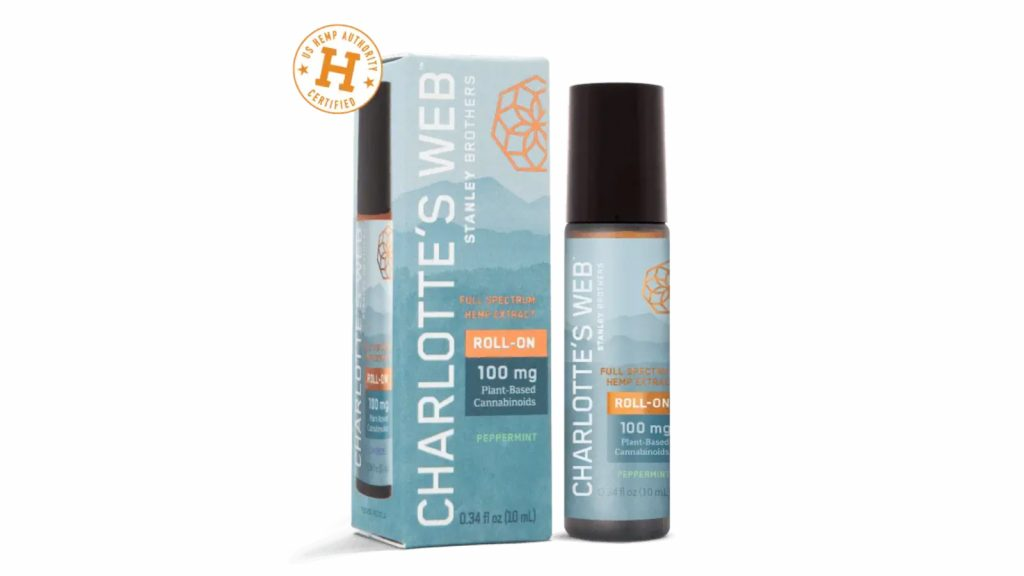 Peppermint Hemp-Infused Roll-On by Charlotte's Web