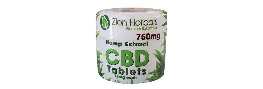 Zion Herbals Hemp Extract CBD Tablets