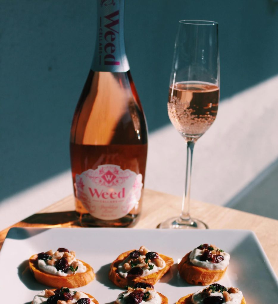 Weed Cellars Sparking Rose and Prosecco
